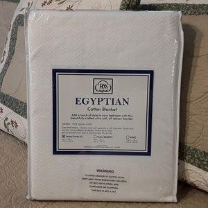 "100 %EGYPTIAN COTTON BLANKET TWIN/TWIN XL 66X90"""